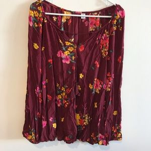 Old Navy Long Sleeve Floral Blouse XL
